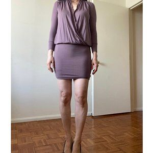 Wilfred Aritzia lavender body fit dress - comfy!